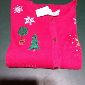 Red women's Christmas sweater